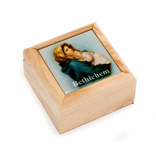 Portarosario scatola olivo Madonna del Ferruzzi s1
