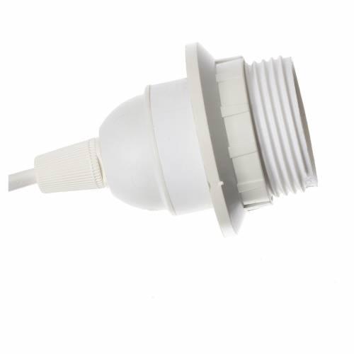 Porte ampoule E27 avec câble d'alimentation et prise blanche s2