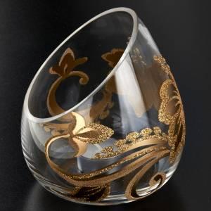 Porte bougie de Noel en verre décorations florales s2