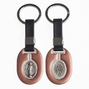 Porte-clés: Porte clef Vierge Miraculeuse métal avec bande
