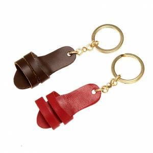 Porte-clés cuir sandale s1