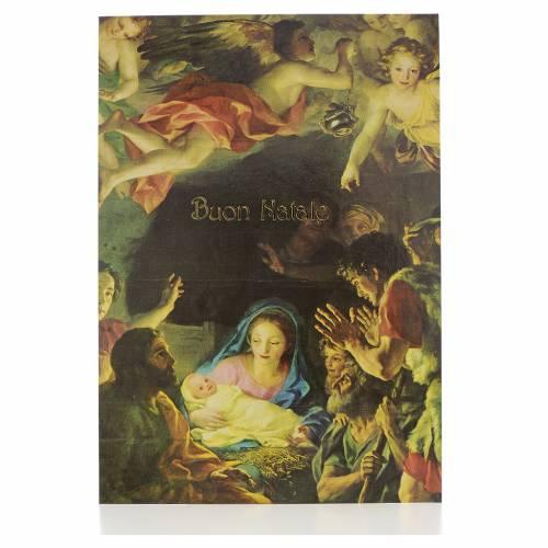 Postal de la Natividad con ángeles s1