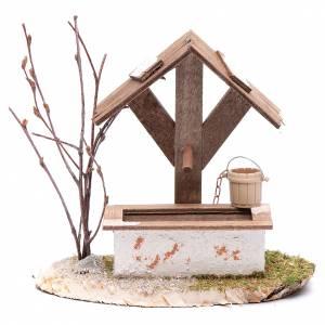 Casas, ambientaciones y tiendas: Pozo con cubo 15x15x10 cm - accesorio belén