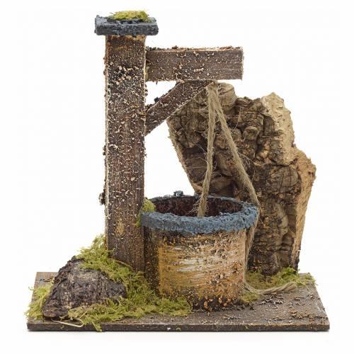 Pozzo presepe con roccia 15x15x10 cm s1