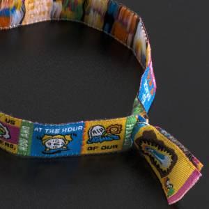 Prayer bracelet in fabric, Hail Mary ENG s6