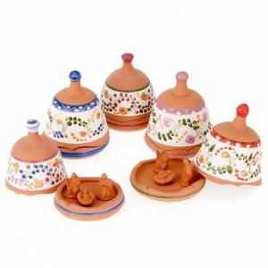 Presepe Terracotta Deruta: Campana in terracotta Natività