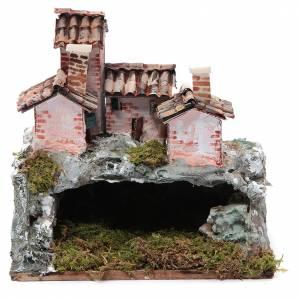 Capanne Presepe e Grotte: Presepe con paesaggio di tipo roccioso 20x20x15 cm