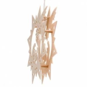 Natività illuminata legno stella s3