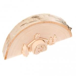 Presepe intagliato legno naturale s2