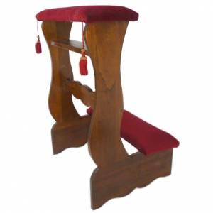 Prie-Dieu pour mariés en bois peint noyer 85x55x50 cm s1