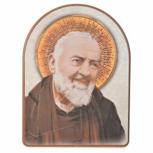 Print on wood, 15x20cm Saint Padre Pio s1