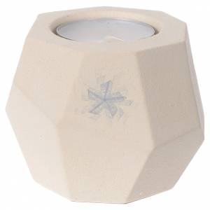 Candle holders: Prism shape Christmas candle in clay by Centro Ave, 6.7cm