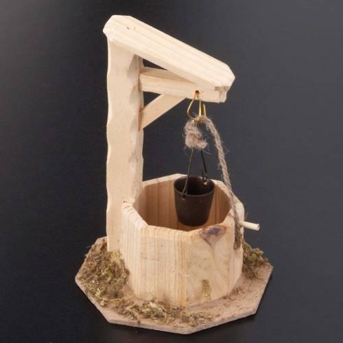 Puits en bois 10x10x15 pour crèche noël s2