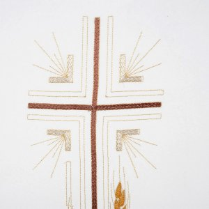 Pulpit cover with fring cross and ears of wheat, all liturgical colors s2