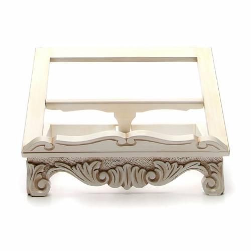 Pupitre autel baroque couleur ivoire s1