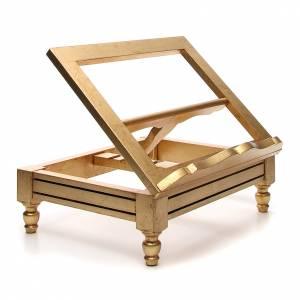 Pupitre de table doré à la feuille d'or s4