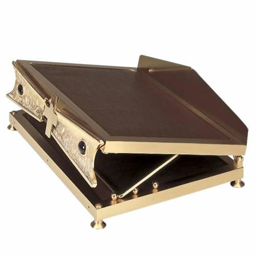 Pupitre de table en métal doré s1