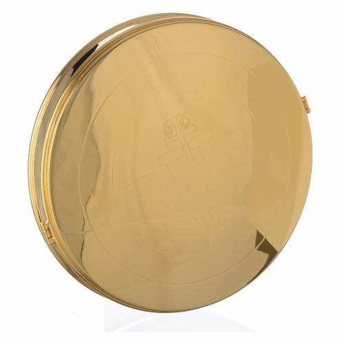 Pyx for big host in gold plated brass 21.5cm s1