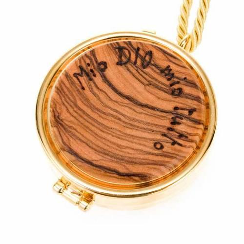 Pyx olive wood plaque 'Mio Dio Mio tutto' s1