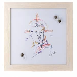 Bomboniere e ricordini: Quadro Cristo Speranza stampa acquarello 27X27 cm