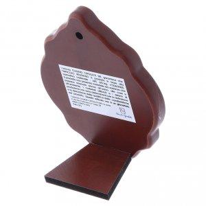Quadro in bilaminato con retro in legno pregiato Sacra Famiglia 10X7 cm s3