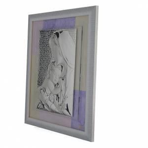 Quadro Sacra Famiglia Rosa-lilla 29x26 cm s2