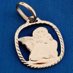 Raffaello's angel pendant in 750/00 gold  - 1,30 gr s3