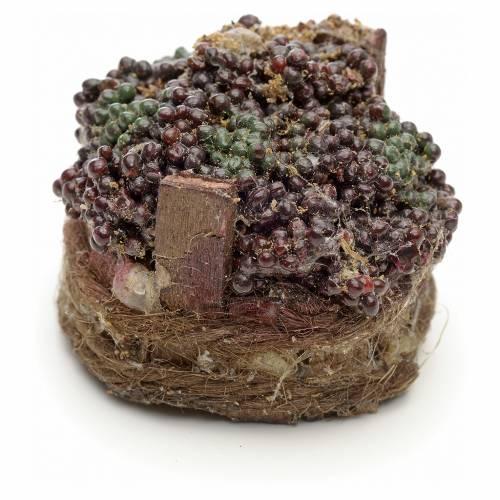 Raisins noirs dans à baquet crèche napolitaine 4,5cm s2