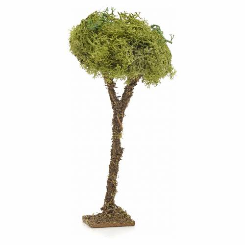 Árbol con liquen pesebre 16 cm s1