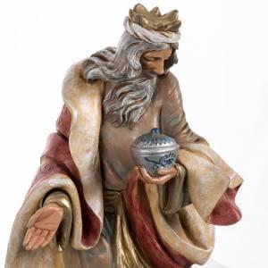 Statue per presepi: Re Magio bianco presepe Fontanini 45 cm
