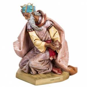 Statue per presepi: Re Magio mulatto 65 cm Fontanini presepe
