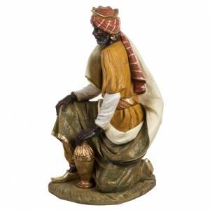 Statue per presepi: Re Magio nero 180 cm resina Fontanini