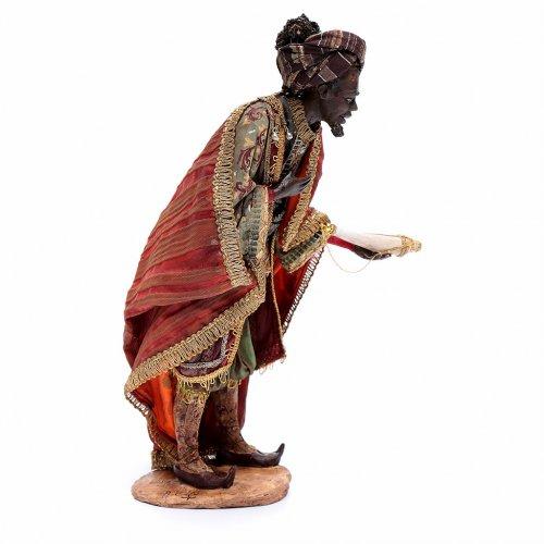 Re Magio nero 30 cm Angela Tripi terracotta s4