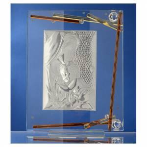 Regalo Nacimiento Cuadro Maternidad cristal y plata 25x20 cm s3