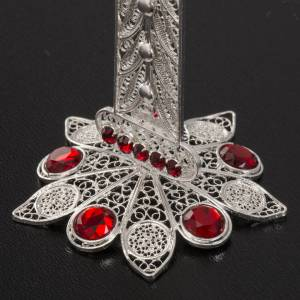 Relicario forma de cruz de plata 800, 11cm s4