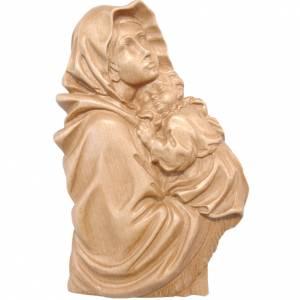 Relieve Virgen del Ferruzzi madera Valgardena patinado s1