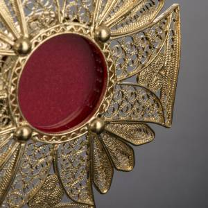 Reliquary in 800 silver filigree, decorated s3