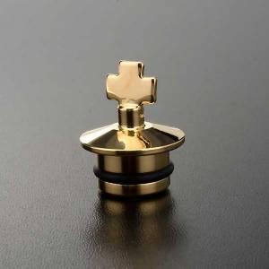 Vinajeras Metal: Repuesto vinajeras fusión oro y antiguo: pareja de tapas