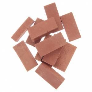 Home accessories miniatures: Resin bricks terracotta colour 12 pieces set