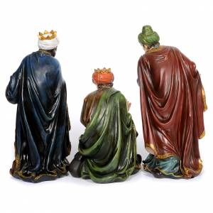 Resin and Fabric nativity scene sets: Resin nativity scene set of 11 pieces 61 cm