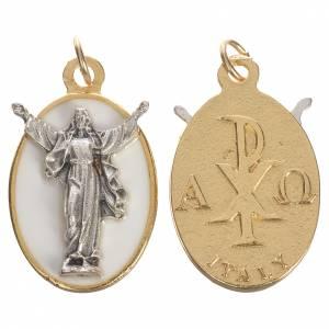 Resurrected Christ medal with white enamel, 2.2cm s1