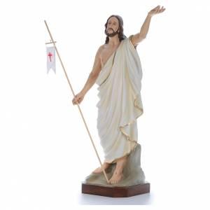 Fiberglass statues: Resurrected Christ, statue in painted fiberglass, 130cm