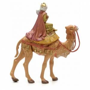 Rey mago moreno sobre camello 19cm Fontanini s2