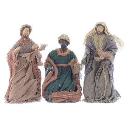 Reyes Magos 20 cm resina y gasa marrón s1