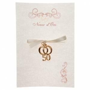 Bomboniere e ricordini: Ricordino Anniversario Matrimonio 50 con pergamena