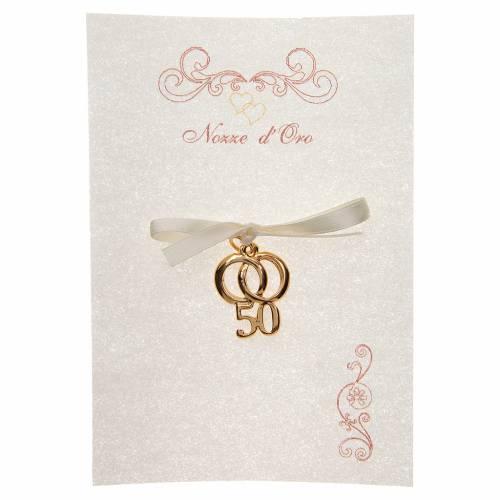 spesso Ricordino Anniversario Matrimonio 50 con pergamena | vendita  YE72