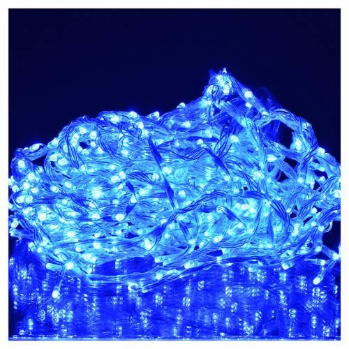 Rideau lumineux 576 leds éclairage extérieur bleu s2