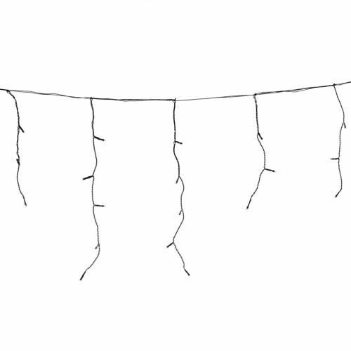 Rideau lumineux stalactites 60 leds blanc froid extérieur s1