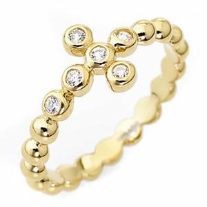 Gebetsringe: Ring AMEN Bällchen vergoldeten Silber 925 weissen Zirkonen