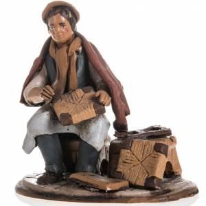 Presepe Terracotta Deruta: Riparatore sedie presepe terracotta 18 cm